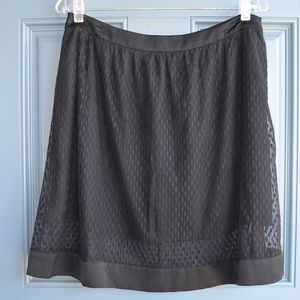 * Black Lace Overlay Skirt by Chelsea 28 Sz. L